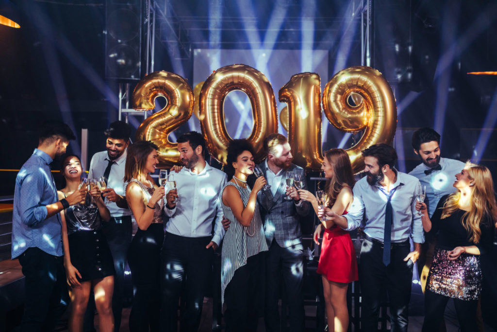 Personnes souhaitant la bonne année 2019