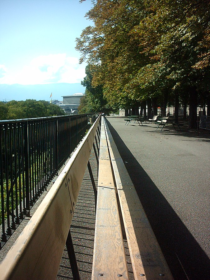 Banc la treille insolite à Genève