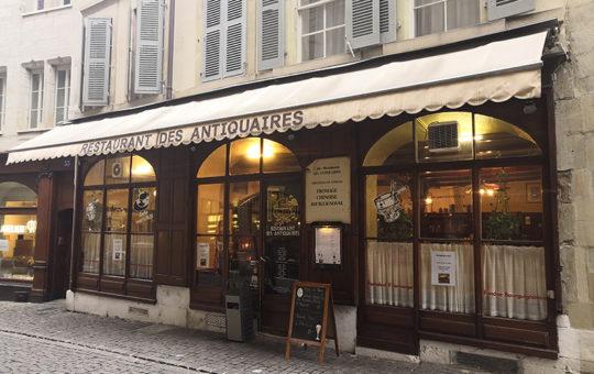 façade du restaurant des antiquaires à genève