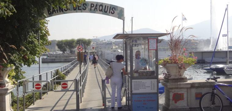 Entrée des bains des paquis à Genève