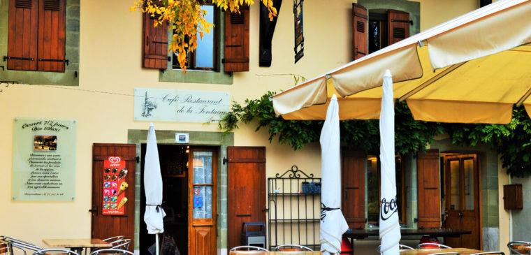 Façade du du restaurant de La Fontaine Genève