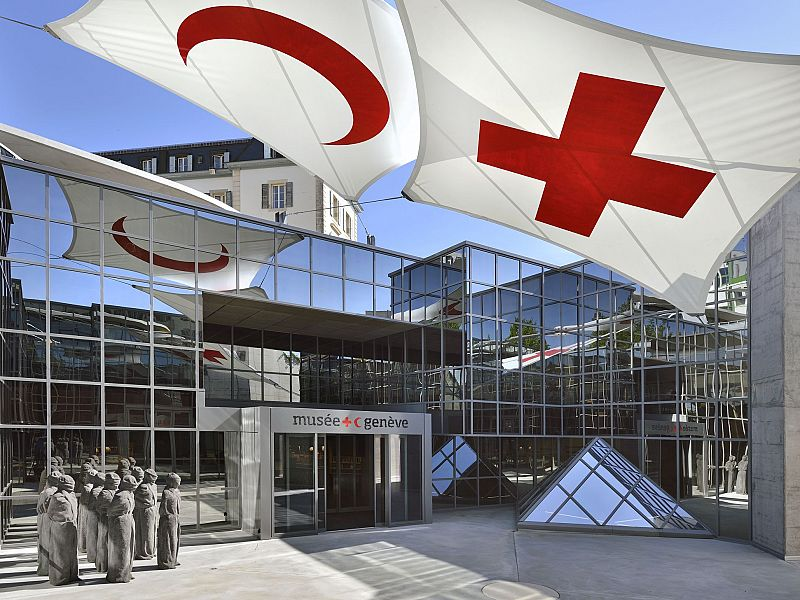 Entrée du musée de la Croix Rouge Internationale