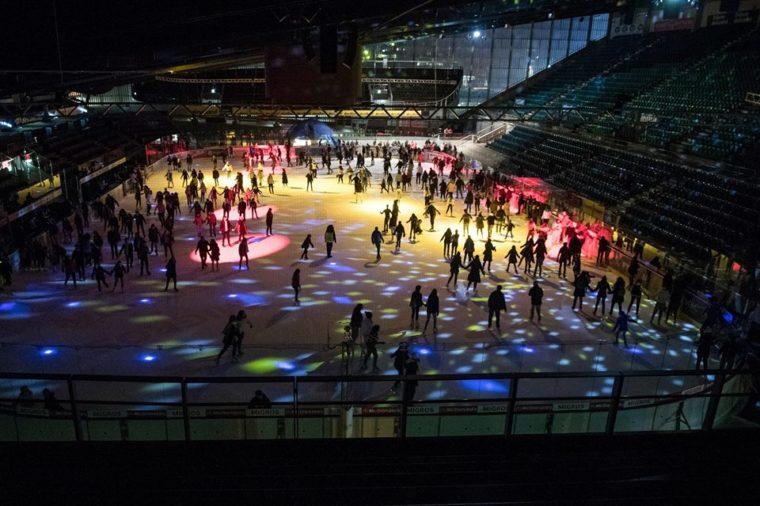 Patinoire des Vernets et disco sur glace