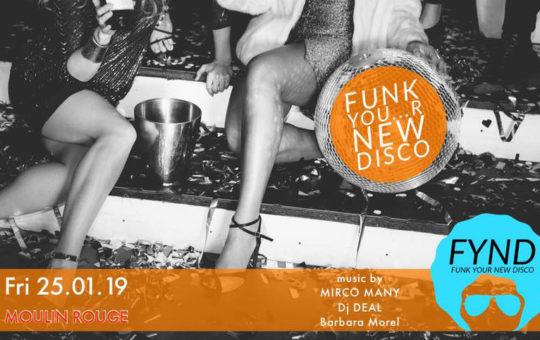 Affiche soirée funk your disco geneve