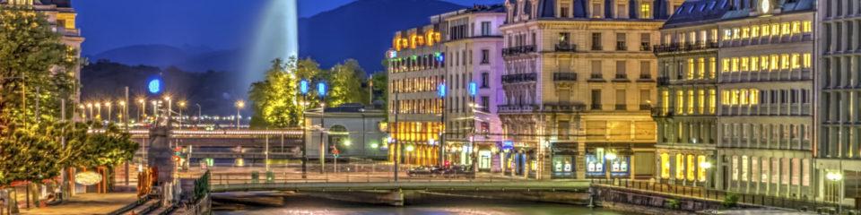 Genève vue de nuit