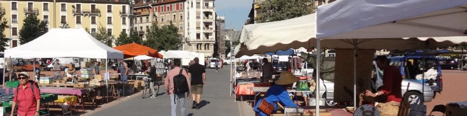 marché de plainpalais à genève