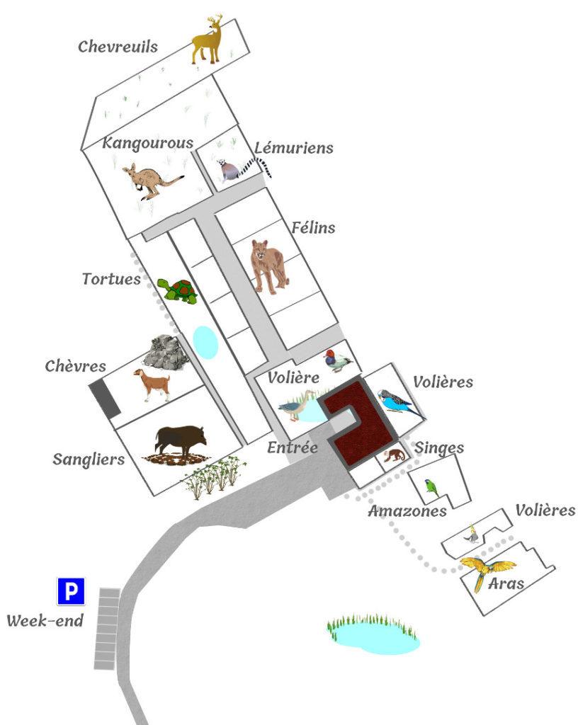 Plan du parc Challandes
