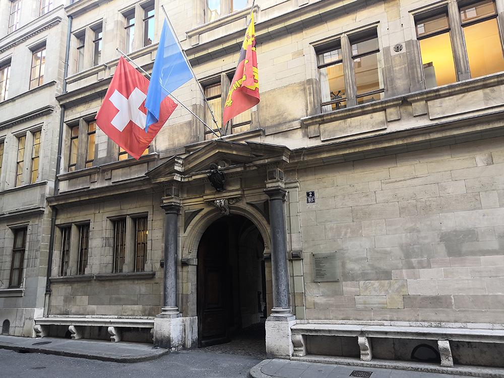 bancs des condamnés hôtel de ville Genève