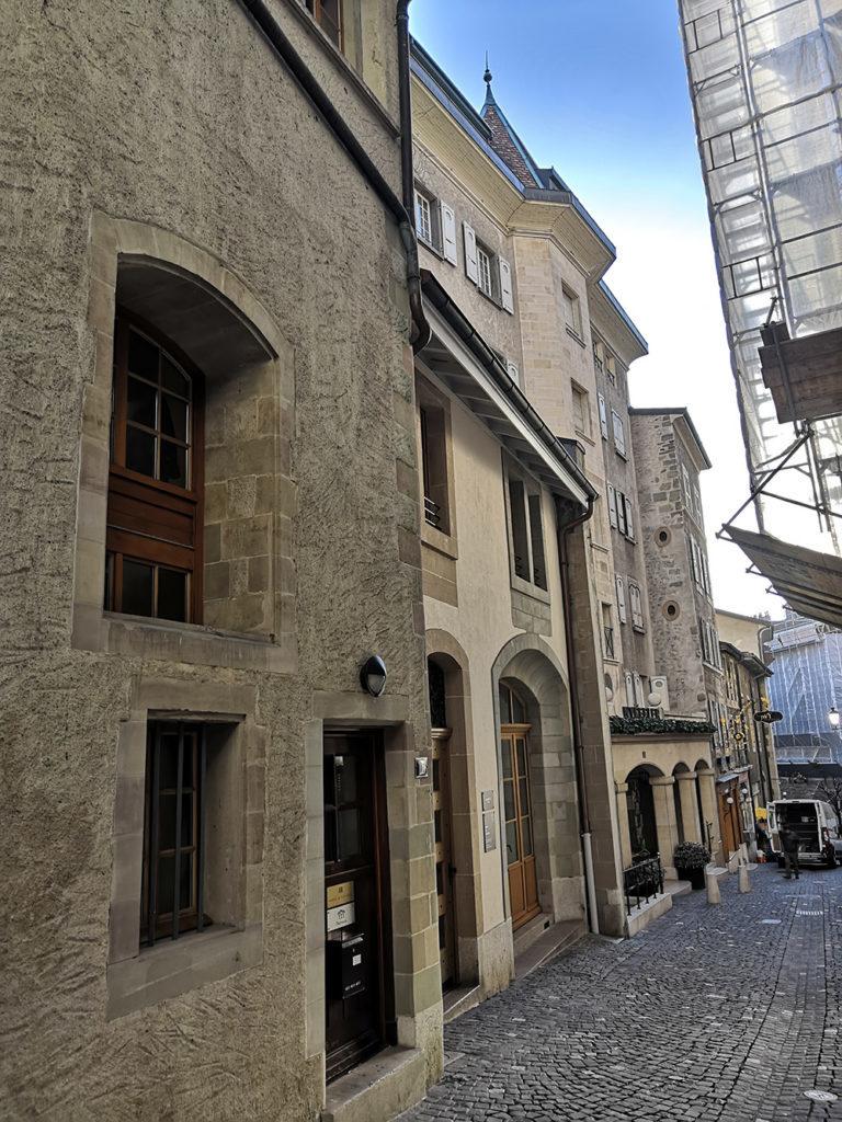 rue chausse coq vieille ville genevoise