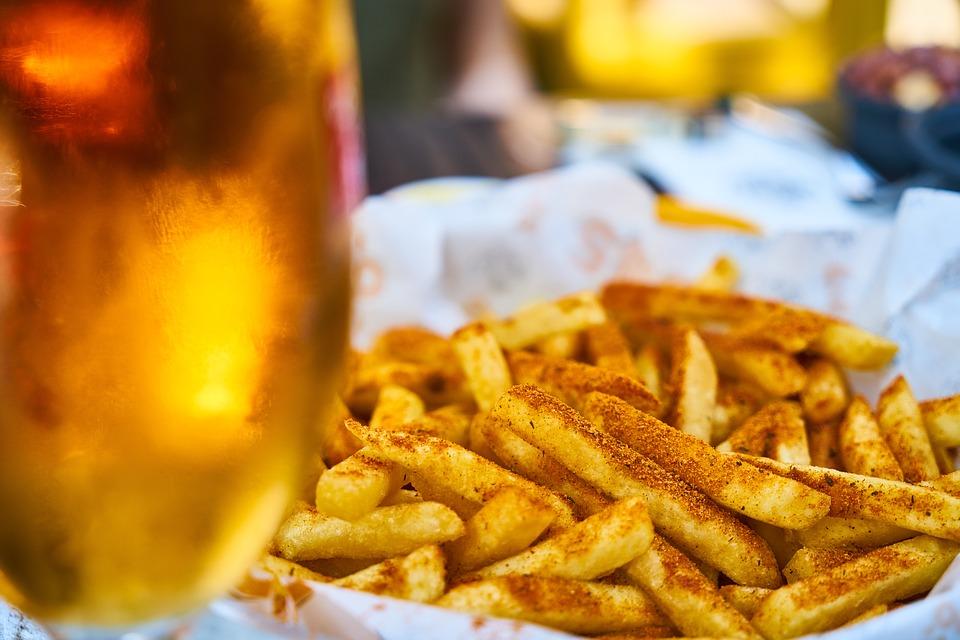 frites et bière belges