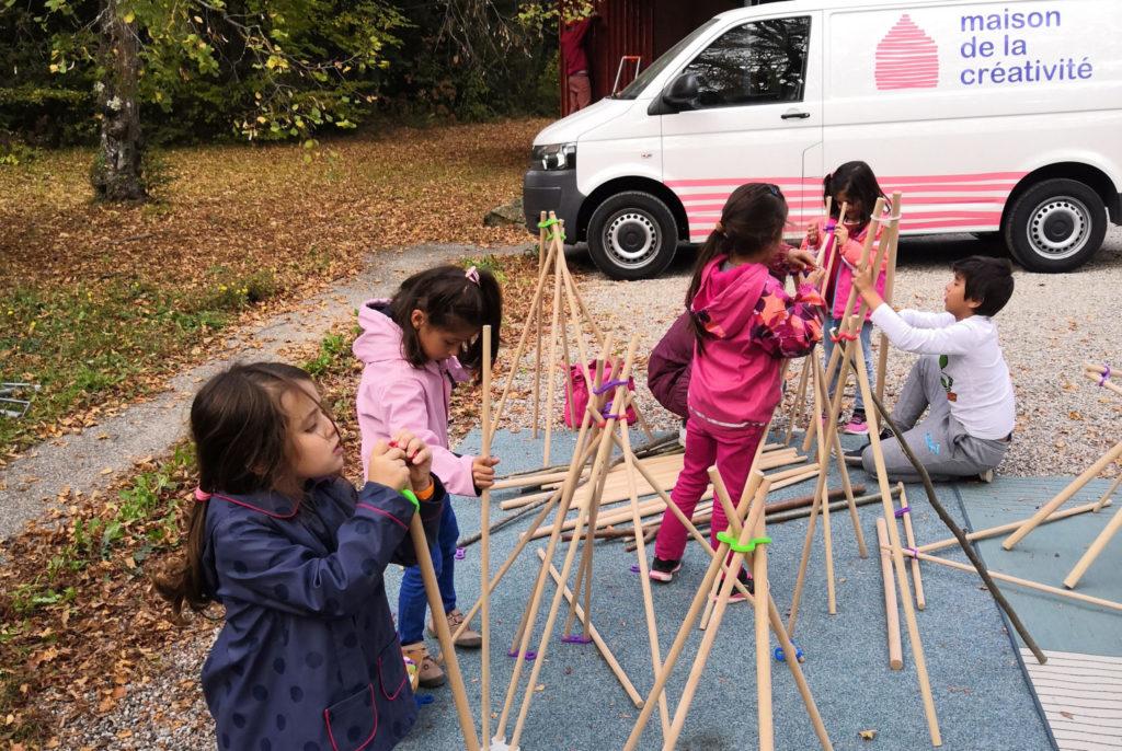 jeux enfants à la maison de la créativité