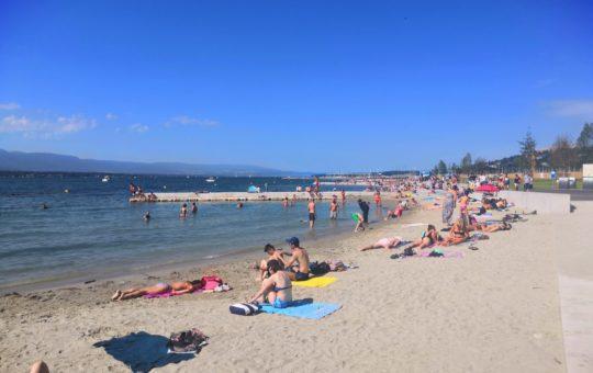 plage des eaux vives ouverte