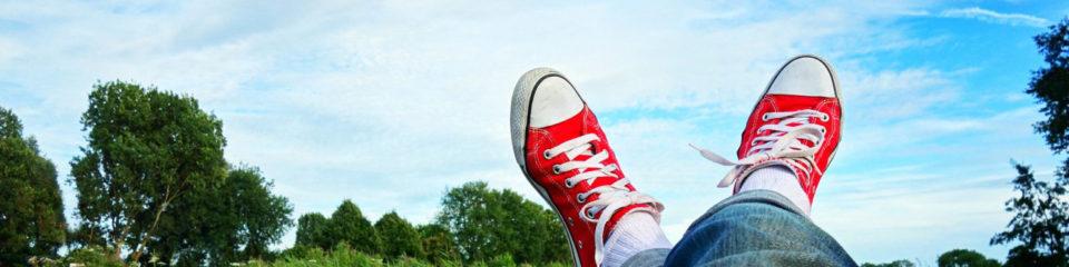 détente pieds en éventail