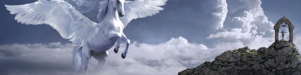 licorne dans le ciel