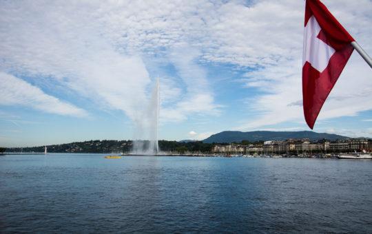 drapeau suisse à genève