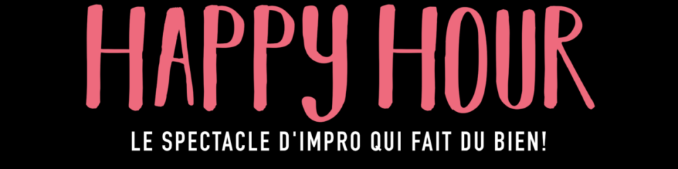 affiche happy hour impro
