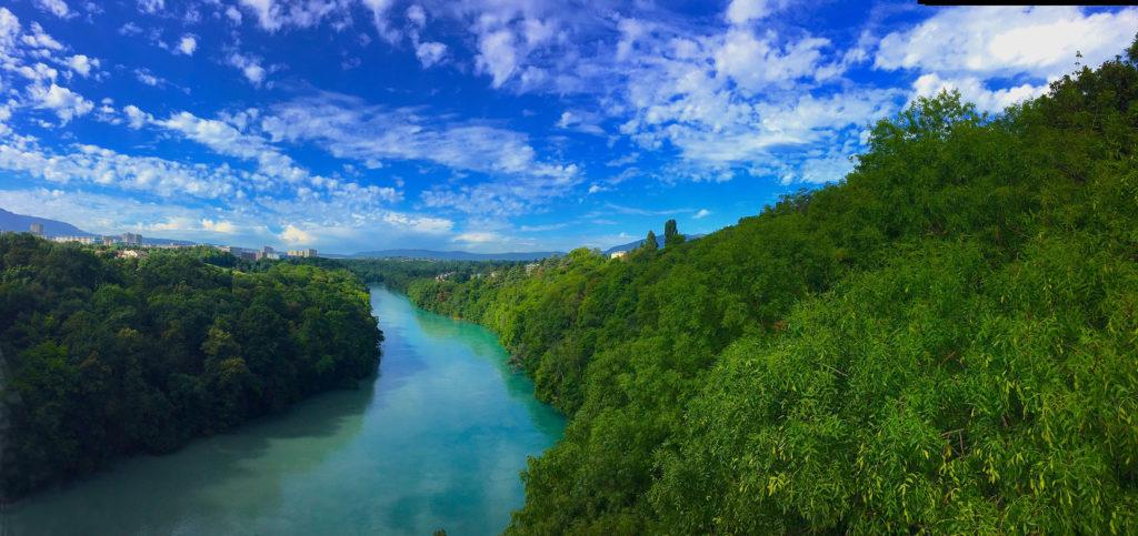 rivière rhône genève