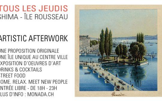 afterwork artistic île rousseau genève