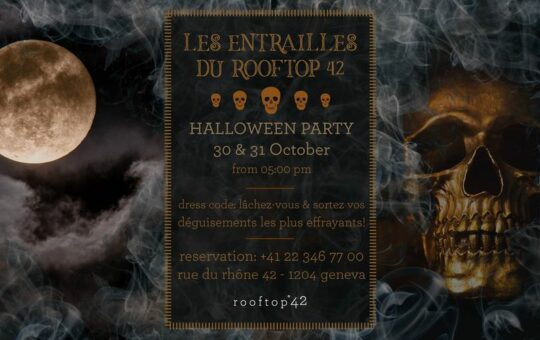 halloween party rooftop genève