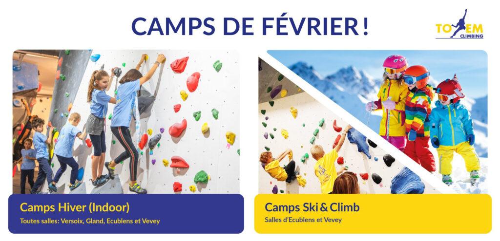 camps escalade vacances genève